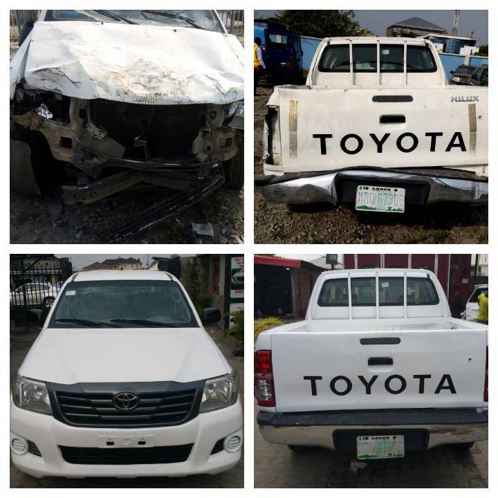 Auto body repairs work