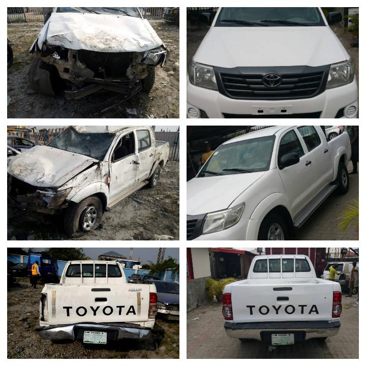 Accident Toyota Hilux repaired by Opengate Auto Spray